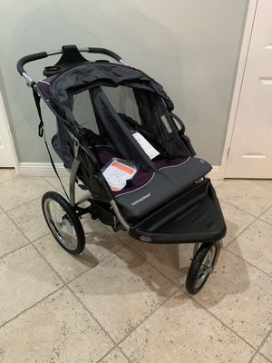 Photo New Baby Trend Double Jogger Stroller