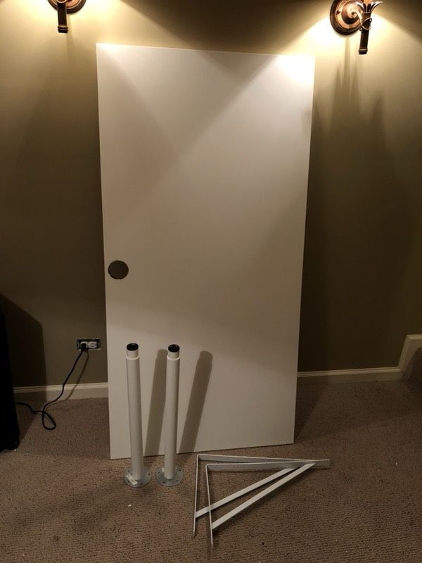 Ikea Linnmon Table Desk Top 2 Olov Adjule Legs Wall Brackets For In Lake The Hills Il Offerup