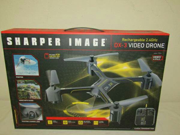 Sharper Image Dx 3 144 Large Drone With 1080p Camera 360 New In