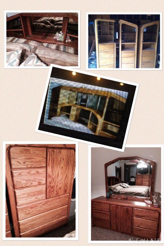 Arbek King Oak Bedroom Set For Sale In Elwood In Offerup