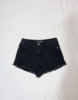 black high waisted jean shorts Thumbnail