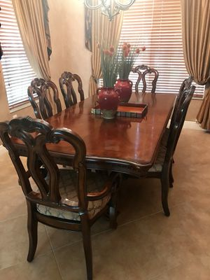 Dining Room Table, 6 Chairs, and Fireplace Mantle for Sale in FL, US
