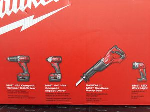 Milwaukee m18 4-piece comb for Sale in Avondale Estates, GA