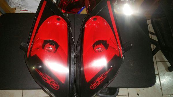 350z headlights CUSTOM RED & BLACK! $100obo for Sale in Oakland Park, FL -  OfferUp