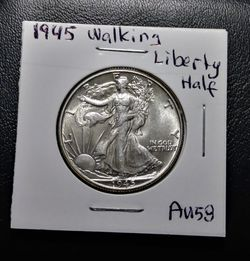 1945 Walking Liberty Half Dollar Thumbnail