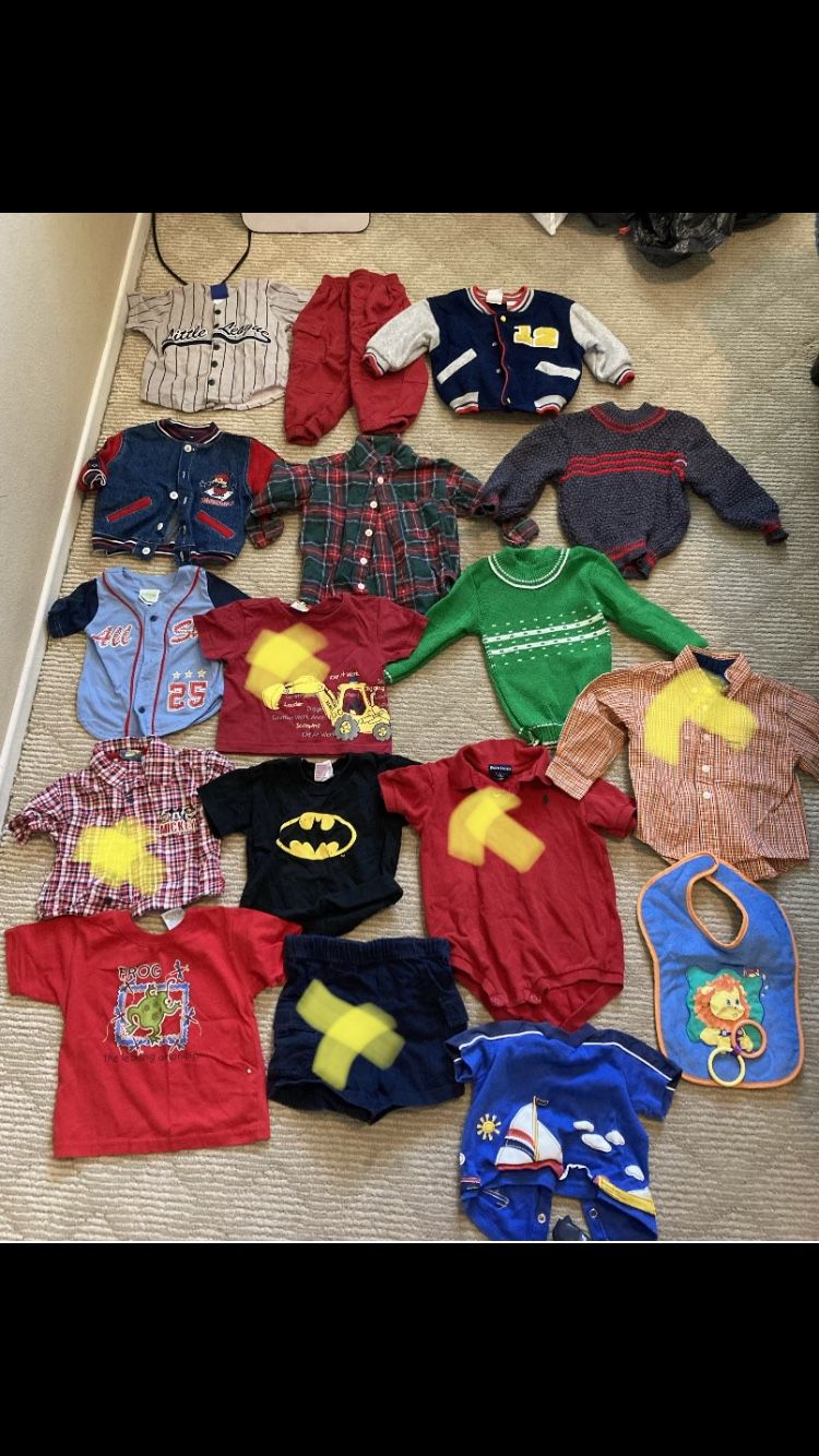 Boy Clothes Size 18-24M On Hold