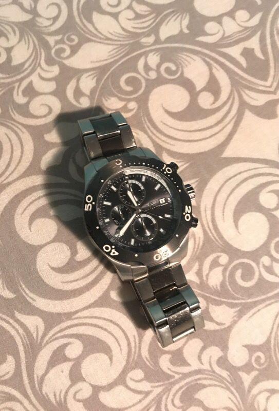 Black and silver Invicta Watch