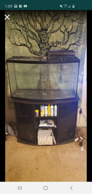 Photo 55 gallon bow front aquarium