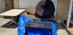 Couch, beige table, black table for Sale in Austin, TX