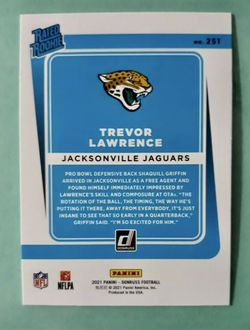 2021 Donruss Trevor Lawrence Rated Rookie Thumbnail