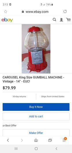 Vintage gum ball machine Thumbnail
