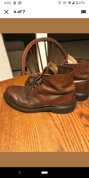 Photo Red Wing Mens Brown Leather Heritage Classic Work Boots Size 8 Super Sole