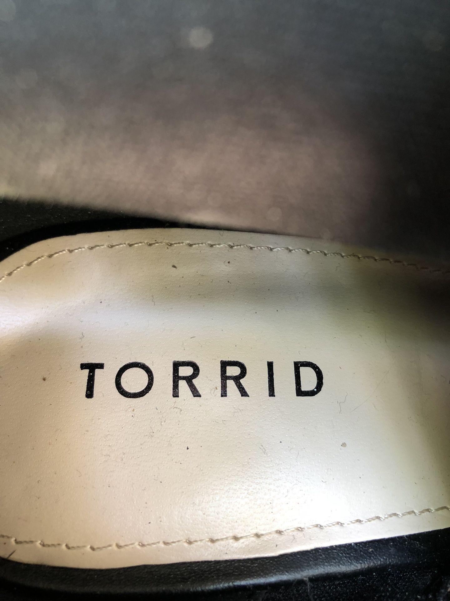 Torrid open toe booties
