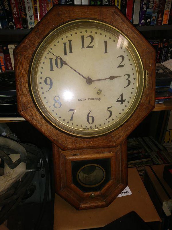 Railroad Clock By Seth Thomas For