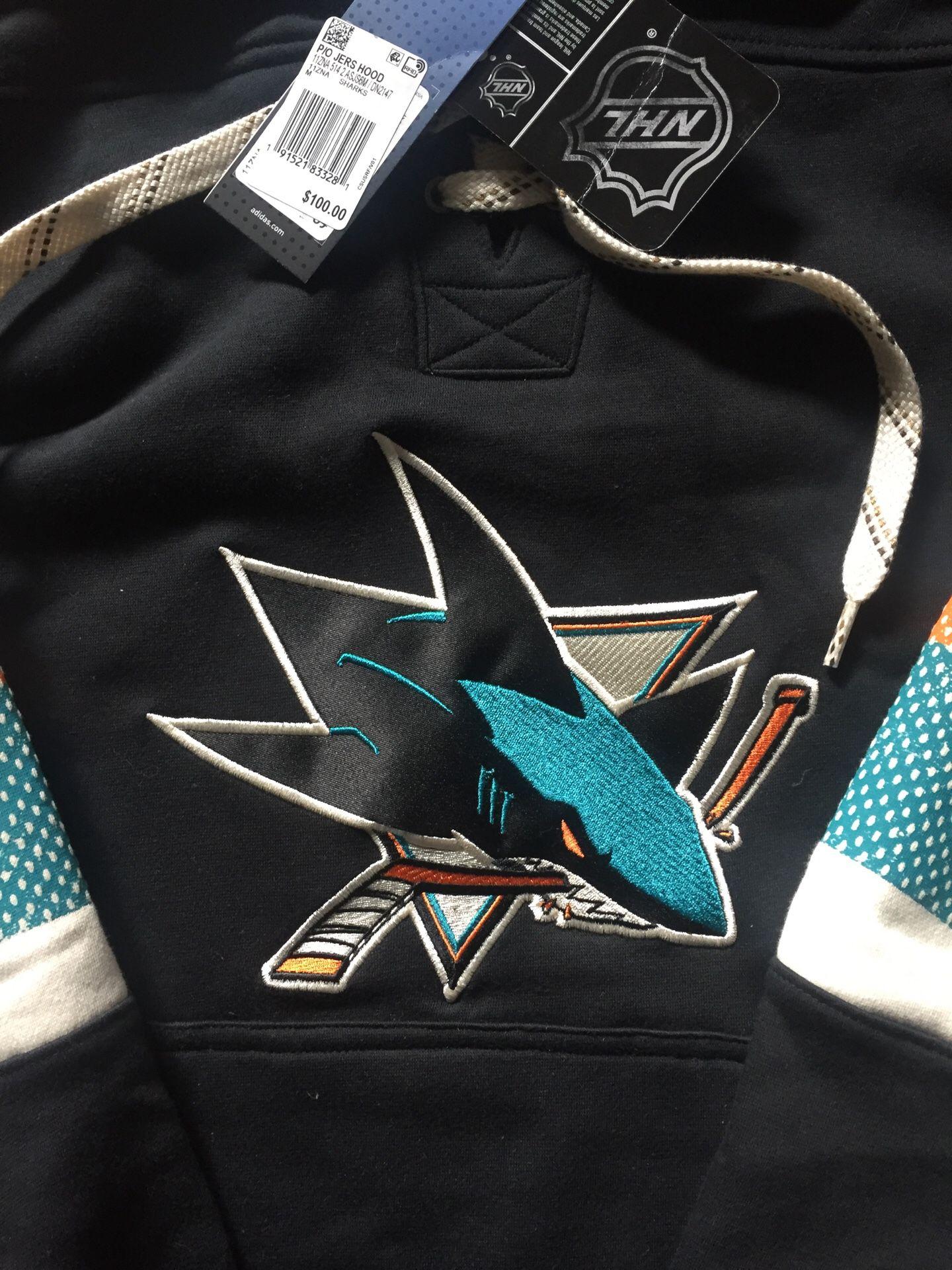 Adidas San Jose Sharks Hooded Sweatshirt