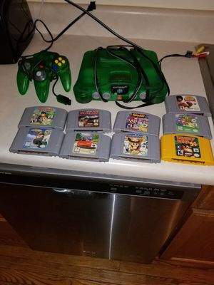 Nintendo 64 transparent green for Sale in Germantown, MD