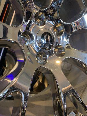 Photo Hellcat wheels 20x11 20x9 chrome 5x115 5x114 charger challenger 300c magnum demon srt mopar 315 275