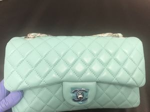 d16ef4b56c5e Chanel Turquoise 10inch 2.55 Double Flap Classic Shoulder bag for Sale in  San Leandro