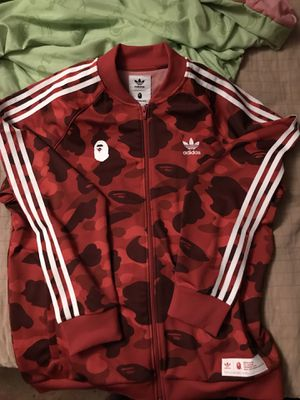 4656e8eaf Bape x adidas adicolor Track Top Raw Red for Sale in Garden Grove, CA -  OfferUp