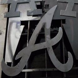 Antlanta Braves Metal Logo Thumbnail