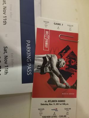 Wizards vs hawks tickets for Saturday November 11th for $450 for Sale in Washington, DC