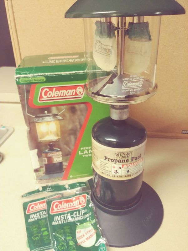 Coleman Two-Mantle Propane Lantern New Never Used  Comes with extra  supplies $20 for Sale in Spring Hill, FL - OfferUp