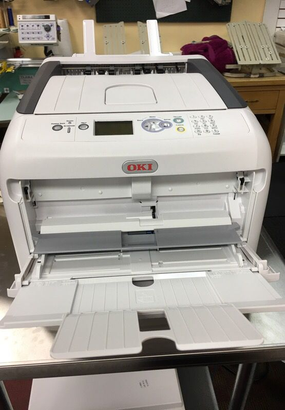 368e87b0 TShirt printer OkI pro8432WT white toner lazer printer for Sale in ...