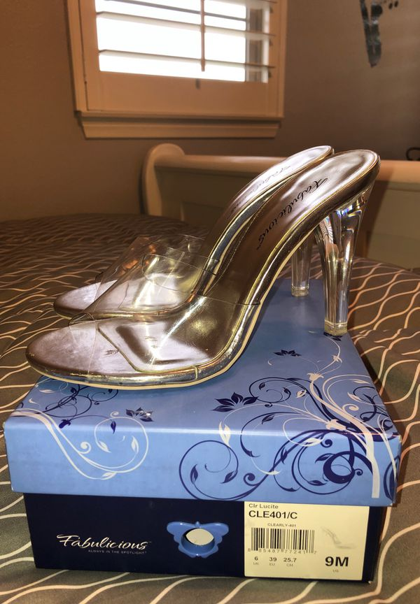 6345b48db30 Fabulicious clear heels women's 9 for Sale in Rancho Cucamonga, CA - OfferUp