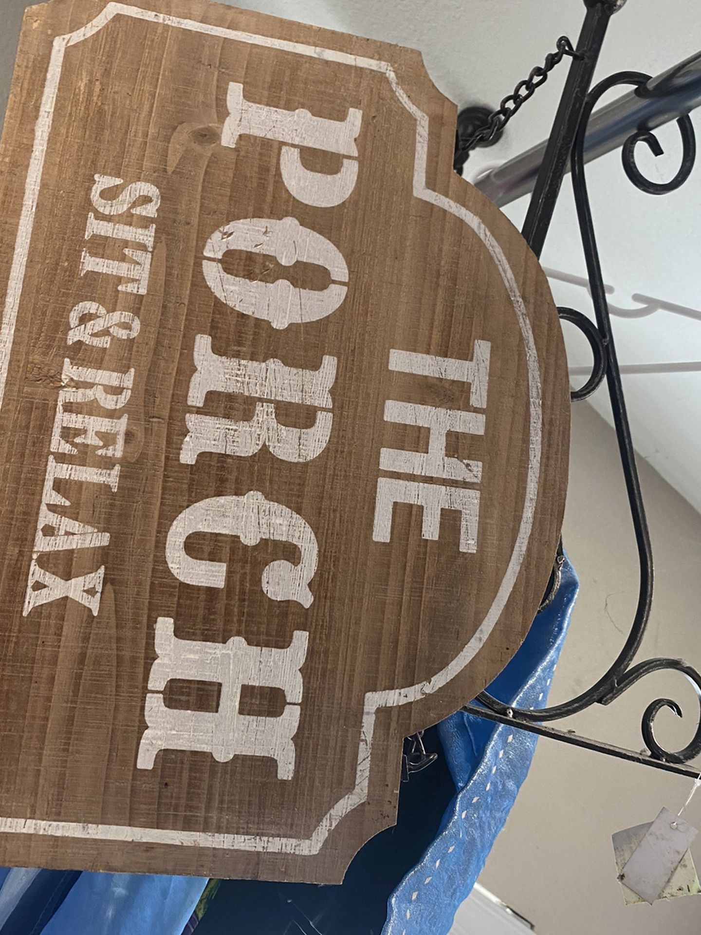 Porch Sign Never Used