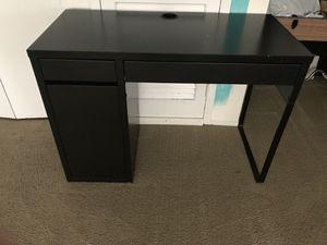 Ikea black desk for Sale in Germantown, MD