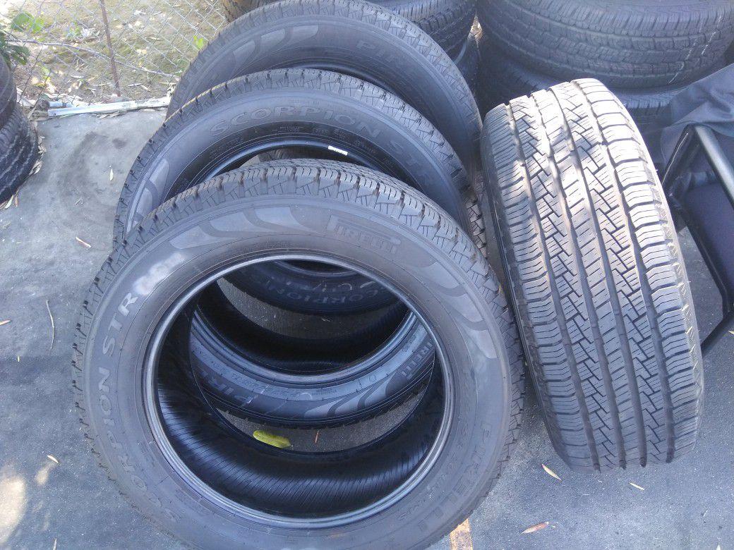 Set of 4 tires P 275/55/R20 PIRELLI TIRES $330......97% OF LIFE