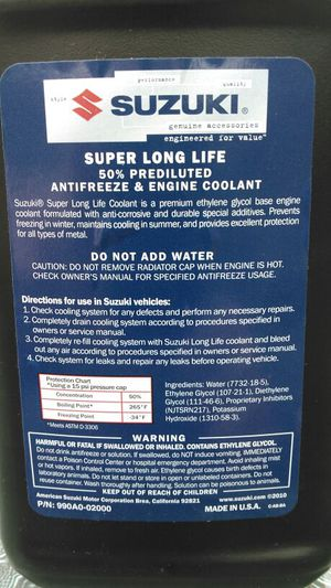 Suzuki coolant for Sale in Des Plaines, IL - OfferUp