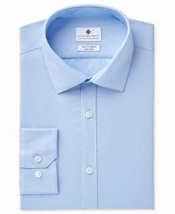 Ryan Seacrest Distinction Men Dress Shirt Blue 15 Slim Fit Stretch Thumbnail