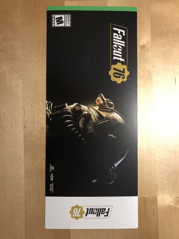 Fallout 76 digital code - physical card (or email w/ venmo) for Sale in  MONTE VISTA, CA - OfferUp