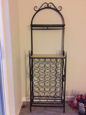 Rod iron custom wine rack and bar - price reduced! for Sale in Atlanta, GA
