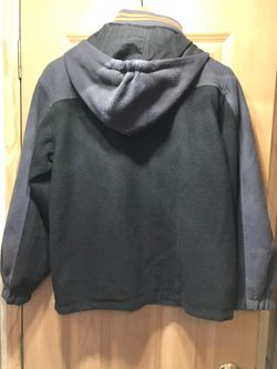 Boys size large 14-16 reservable Polo coat with hood Thumbnail