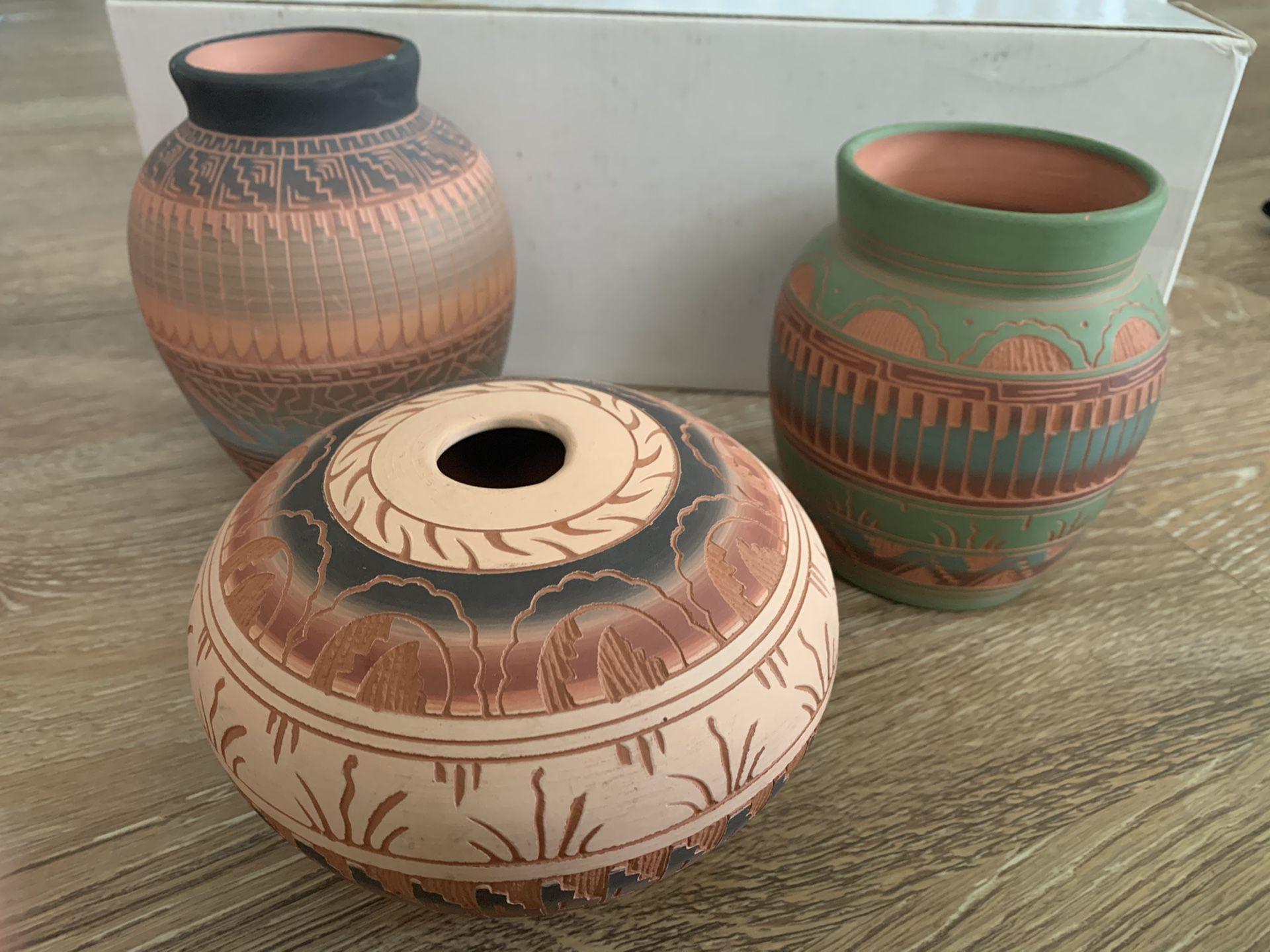 Navajo pottery vases