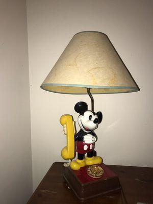 Vintage Disney mickey mouse lamp/phone for Sale in Arlington, VA