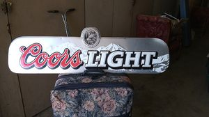 Coors light beer sign great for decorating pool room even cooler at pool side for Sale in Buena Park, CA