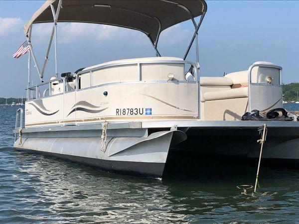 92009 tahoe 20� harris pontoon boat