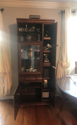 Brown Wooden Glass Display for Sale in Annandale, VA
