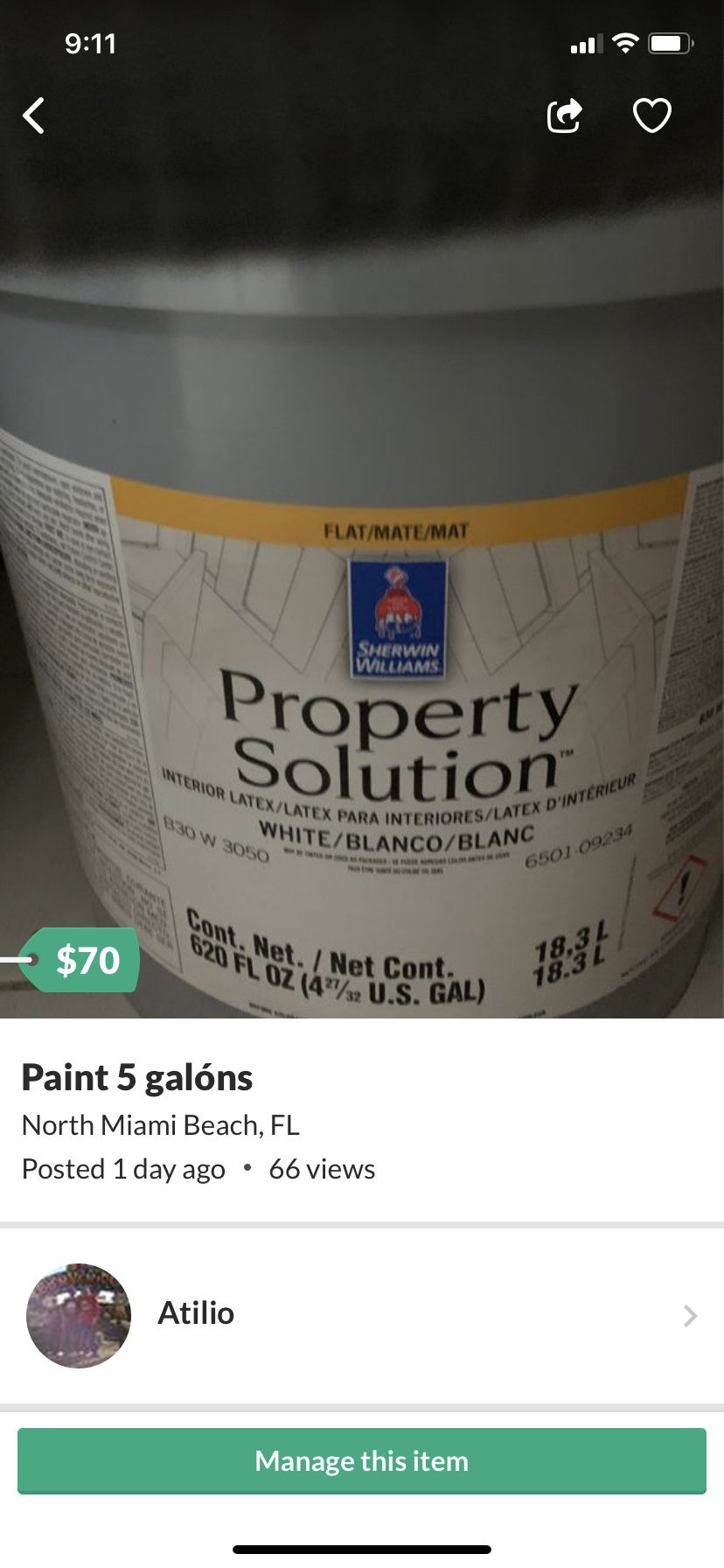 Color beige 5 galón