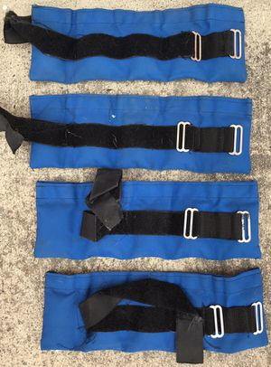 FOUR BLUE STRAP ON WEIGHTS for Sale in San Diego, CA