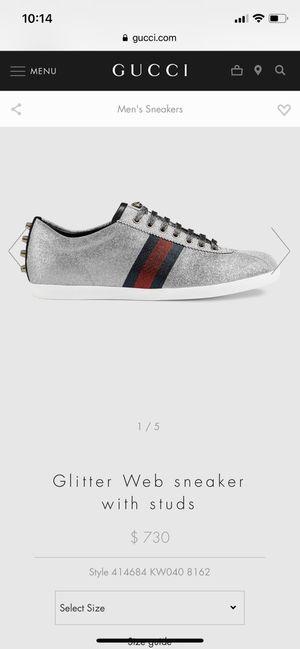 a5b5717910a Gucci Glitter Web Sneakers Size 42 for Sale in Portland