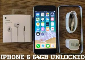 Gray Iphone 6 UNLOCKED 64GB w/ Accessories for Sale in Arlington, VA