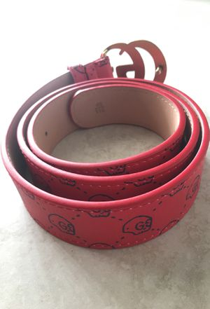239daf6b06bb Gucci belt with Trevor Andrew's skull print in red for Sale in Pembroke  Pines, FL - OfferUp