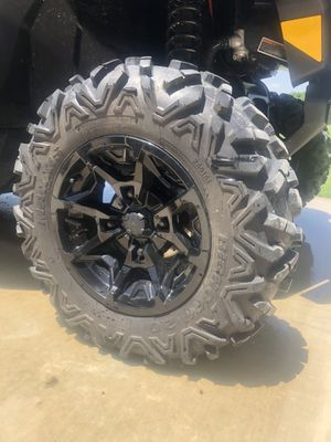 Photo Tires and Wheels for UTV, side by side, four wheeler
