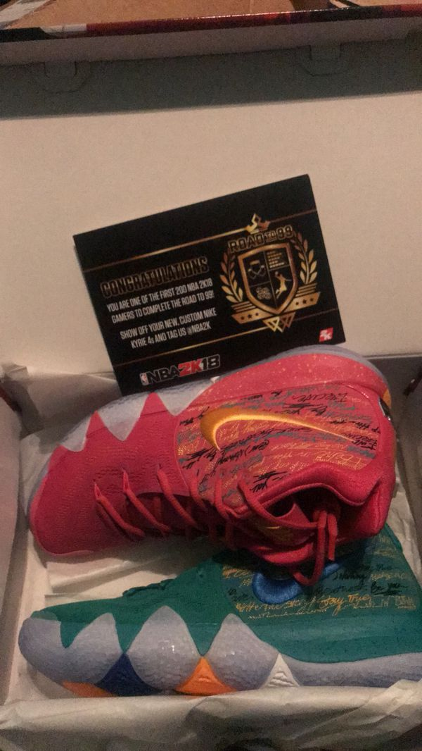 NBA 2K18  Road To 99 Shoes  Kyrie 4 Confetti Alternate Edition for ... 58eac7d340