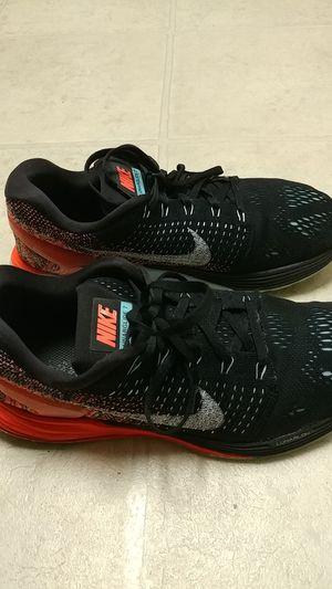 Black & Orange Nike Lunarglide 7's Size 10 for Sale in Hillsborough, NC