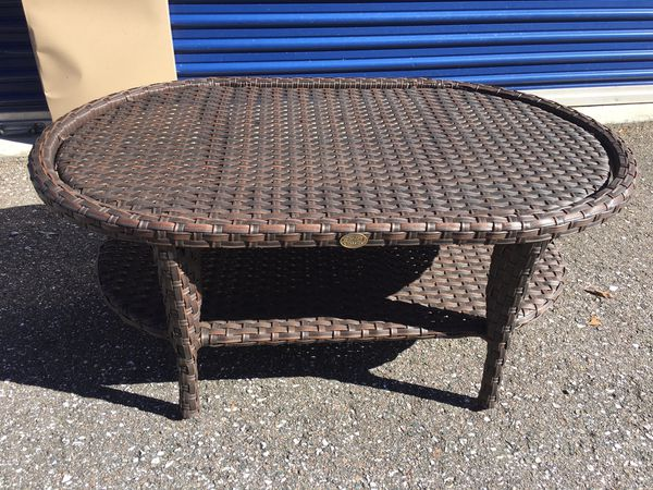 Leaders Casual Furniture Kokomo Outdoor Wicker Cocktail Table For